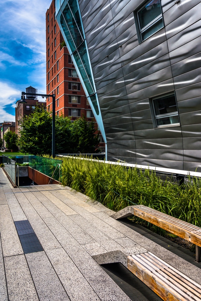 Modern buildings along the High Line in Manhattan