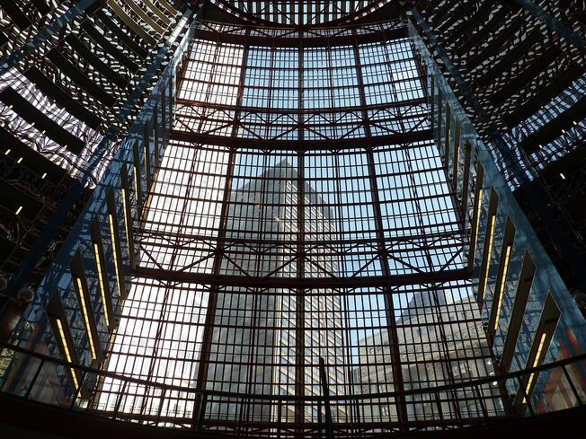 Thompson Center Atrium Glass Wall