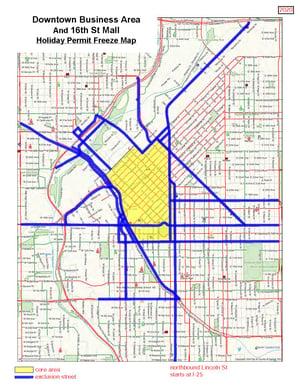 Denver Downtown 16th map