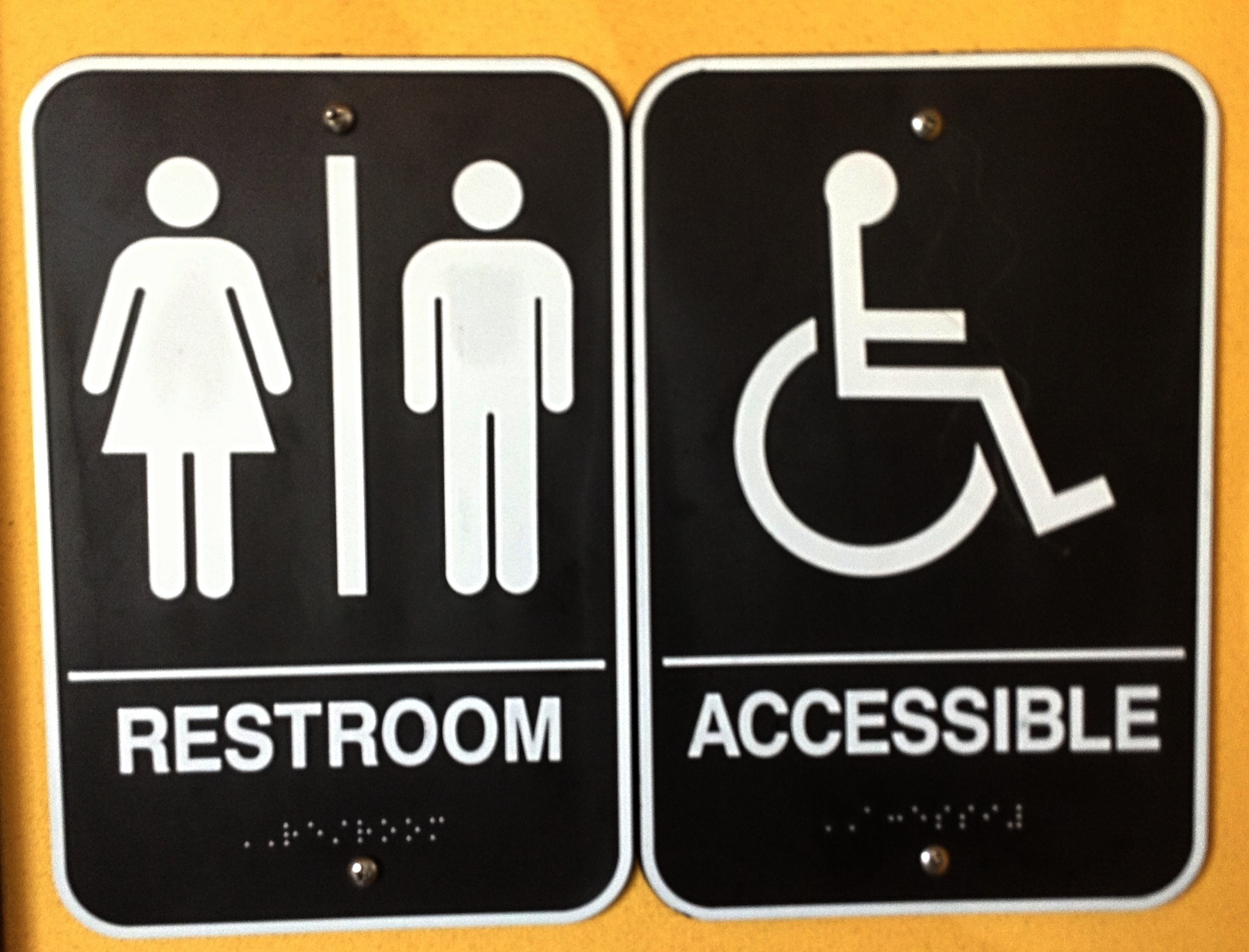 Commonly Overlooked ADA Bathroom Requirements - Bathroom directional signs